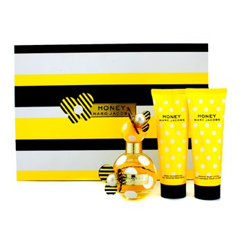 Marc Jacobs�� Honey: ���پ��ی�� ��پ�ی 50�ی�ی �ی��/1.7 ���� + ���ی�� ��� 75�ی�ی �ی��/2.5 ���� + ژ� ��� 75�ی�ی �ی��/2.5 ���� 3pcs