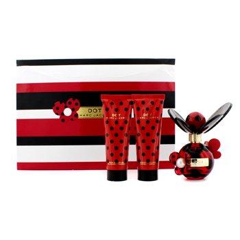 Marc JacobsDot Coffret: Eau De Parfum Spray 50ml/1.7oz + Body Lotion 75ml/2.5oz + Shower Gel 75ml/2.5oz (Black, White, Red Box) 3pcs