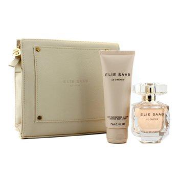 Elie SaabLe Parfum Coffret: Eau De Parfum Spray 50ml/1.6oz + Body Lotion 75ml/2.5oz + White Pouch 2pcs+1pouch