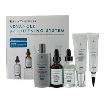 Skin CeuticalsAdvanced Brightening System: Activador 30ml + Phloretin CF 30ml + Corrector de Pigmento 30ml + Defensa UV SPF 50 50ml + Retinol 30ml 5pcs