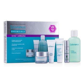 ExuvianceEssentials Kit (Normal/ Combination): Cleansing Gel + Eye Complex + Masque + Evening Complex + Perfect 10 Serum 5pcs