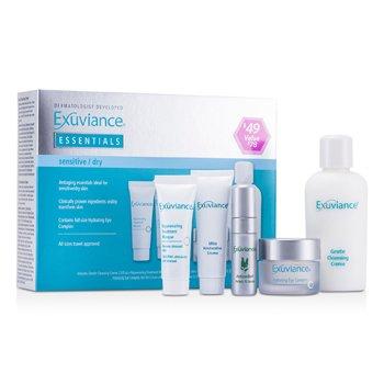 ExuvianceEssentials Kit (Sensitive/ Dry): Cleansing Creme + Eye Complex + Masque + Restorative Creme + Perfect 10 Serum 5pcs