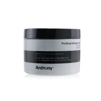 Anthony Logistics For Men Almohadillas Astringentes Purificantes (Para Todo Tipo de Piel)  60pads