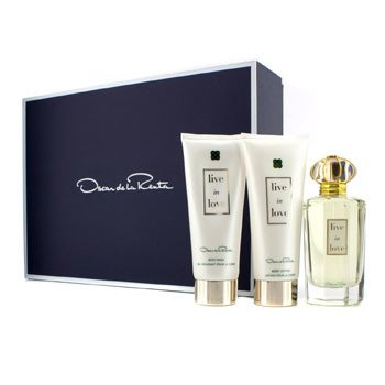 Oscar De La RentaLive In Love Coffret: Eau De Parfum 100ml/3.4oz + Body Lotion 100ml/3.4oz + Body Wash 100ml/3.4oz 3pcs