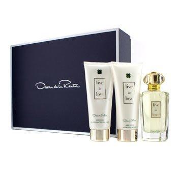 Oscar De La Renta Live In Love Coffret: Eau De Parfum Spray 100ml/3.4oz + Body Lotion 100ml/3.4oz + Body Wash 100ml/3.4oz  3pcs