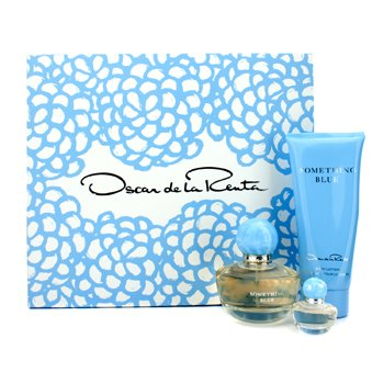 Oscar De La RentaSomething Blue Coffret: Eau De Parfum Spray 50ml/1.7oz + Loci�n Corporal 100ml/3.4oz + Eau De Parfum Miniature 4ml/0.13oz 3pcs
