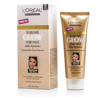 L'OrealSublime Glow Daily Moisturizer SPF 15 (Natural Skin Tones) 75ml/2.5oz