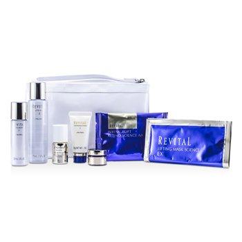 Shiseido Revital Set: Cleansing Foam 20g + Lotion EX II 75ml + Serum 10ml + Moisturizer EX II 30ml + Cream 7ml + Eye Mask + Mask + Bag 7pcs+1bag