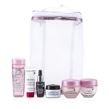 Lanc�meKit de Viagem Lancome : Hydra Zen Gel 50ml + Night Cream 15ml + Moisturising Cream 15ml + XL-Shield 10ml + Concentrate 7ml + Eye 5ml + Bag 6pcs+1bag