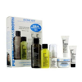 Peter Thomas Roth Acne Kit: Acne Wash+Acne Clearing Gel+Mattifying Gel+Buffing Beads+Therapeutic Sulfur Masque+Acne Spot Treatment 6pcs