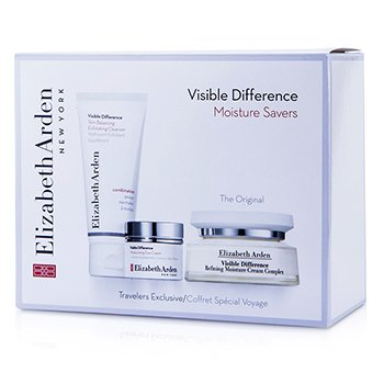 Elizabeth ArdenVisible Difference Moisture Savers Set: Moisture Cream Complex + Exfoliating Cleanser + Eye Cream 3pcs