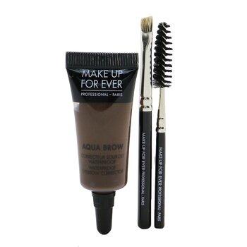 Make Up For EverAqua Brow Kit - #30 Dark Brown 7ml/0.23oz