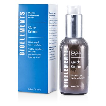 Bioelements Quick Refiner - Leave-on Gel Facial Exfoliator (Salon Product& For All Skin Types& Excep