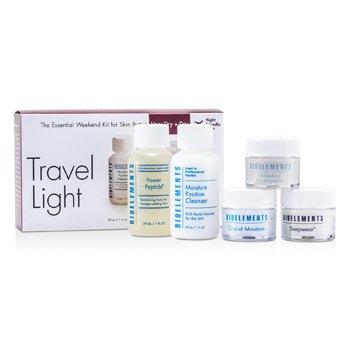 BioelementsThe Essential Weekend Kit (For Very Dry Skin): Cleanser + Power Peptide + Sleepwear + Measured Micrograins + Crucial Moisture 5pcs