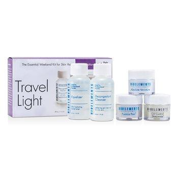 BioelementsThe Essential Weekend Kit (For Combination Skin): Cleanser + Equalizer + Pumice Peel + Absolute Moisture + Sleepwear 5pcs