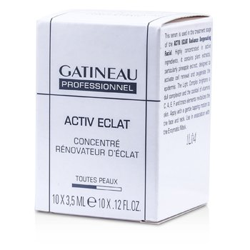 Gatineau Active Eclat Radiance Renovating Concentrate (Salon Size) 10×3.5ml/0.12oz
