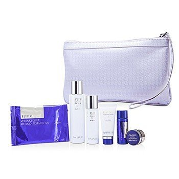 Shiseido Revital Set: Cleansing Foam I 20g+Lotion EX II 75ml+Moisturizer EX II 30ml+Lotion AA 20ml+Cream AAA 7ml+Eye Mask 1pair+Bag 6pcs+1bag