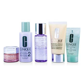CliniqueExclusive Set: DDLM Plus 50ml + All About Eyes 15ml + Liquid Soap 30ml + Clarifying Lotion #2 60ml + Makeup Remover 50ml 5pcs