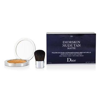 Christian Dior Diorskin Nude Tan Nude Extra Matte Sun Powder (With Kabuki Brush) - # 003 Matte Cinnamon 10g/0.35oz
