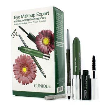 Clinique Eye Makeup Expert (1x Quickliner  1x Chubby Stick Shadow  1x High Impact Mascara) – Green 3pcs