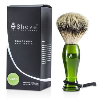 EShave Finest Badger Long Shaving Brush - Green 1pc