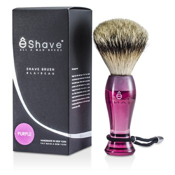 EShave Finest Badger Long Shaving Brush - Purple 1pc