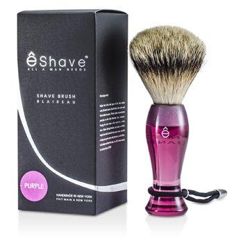EShave Finest Badger Long Shaving Brush - Purple  1pc