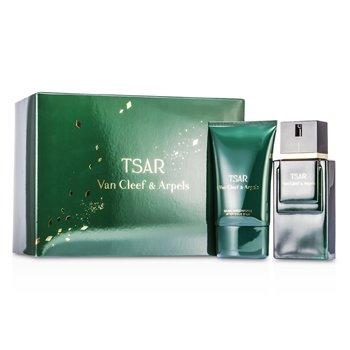 Van Cleef & Arpels Tsar Coffret: Eau De Toilette Spray 100ml/3.3oz + After Shave men s fragrance