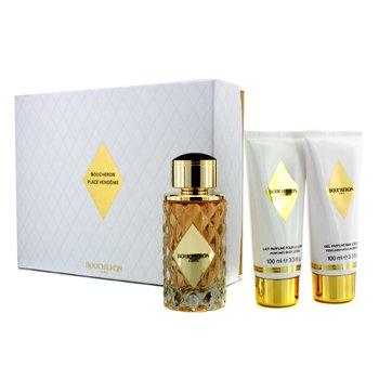 Boucheron Place Vendome Coffret: Eau De Parfum Spray 100ml/3.3oz + Body Lotion 100ml/3.3oz + Bath & Shower Gel 100ml/3.3oz  3pcs