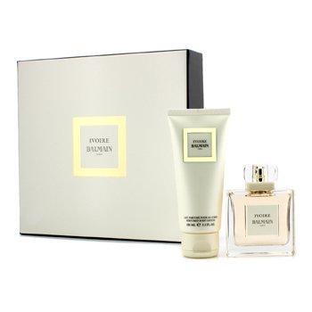 Pierre Balmain Ivoire Balmain Coffret: Eau De Parfum Spray 50ml/1.7oz + Perfumed Body Lotion 100ml/3.3oz 2pcs