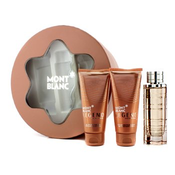 Mont Blanc Legend Pour Femme Coffret: Eau De Parfum Spray 75ml/2.5oz + Loci�n Corporal 100ml/3.3oz + Gel de Ducha 100ml/3.3oz  3pcs