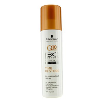 SchwarzkopfBC Time Restore Q10 Plus Rejuvenating Spray (For Mature and Fragile Hair) 200ml/6.7oz