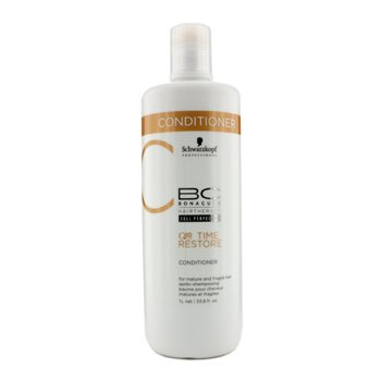 Schwarzkopf BC Time Restore Q10 Plus Conditioner - For Mature and Fragile Hair (New Packaging)  1000ml/33.8oz