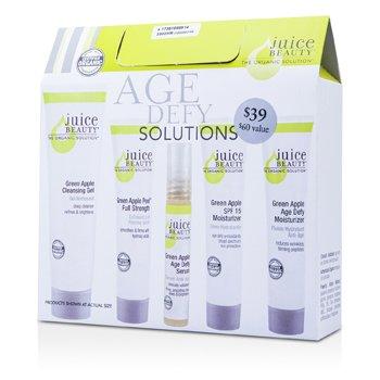 Juice BeautyAge Defy Solutions: Gel Limpiador 60ml + Hidratante 15ml + Hidratante SPF 15 15ml + Green Apple Peel 15ml + Suero 7ml (Fecha Vto.: 07/2015) 5pcs