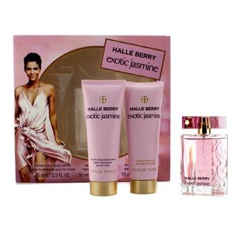 Halle BerryExotic Jasmine Coffret: Eau De Parfum Spray 30ml/1oz + Loci�n Corporal Hidratante 75ml/2.5oz + Gel de Ducha Sensual 75ml/2.5oz 3pcs
