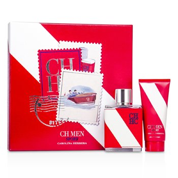 Carolina Herrera CH Sport Coffret: Eau De Toilette Spray 100ml/3.4oz + After Shave Balm 100ml/3.4oz  2pcs