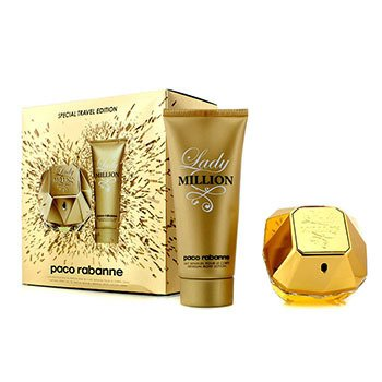 Paco RabanneLady Million Special Travel Edition Coffret: Eau De Parfum Spray 80ml/2.7oz + Sensual Body Lotion 100ml/3.4oz 2pcs