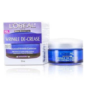 L'OrealSkin Expertise Wrinkle De-Crease Crema de Noche Correctora de Arrugas Avanzada 50ml/1.7oz