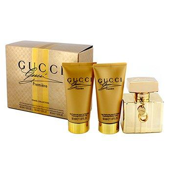 GucciPremiere Travel Collection Coffret: Eau De Parfum Spray 50ml/1.6oz + Loci�n Corporal 50ml/1.6oz + Gel de Ducha 50ml/1.76z 3pcs