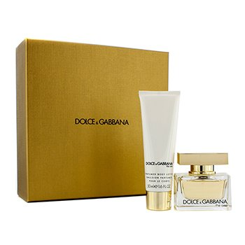Dolce & GabbanaThe One Coffret: Eau De Parfum Spray 30ml/1oz + Body Lotion 50ml/1.6oz (Champagne Gold Box) 2pcs