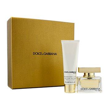 Dolce & Gabbana The One Coffret: Eau De Parfum Spray 30ml/1oz + Body Lotion 50ml/1.6oz (Champagne Gold Box)  2pcs