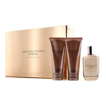 Sean John Unforgivable Coffret: Parfum Spray 125ml/4.2oz + Body Lotion 100ml/3.4oz + Shower Gel 100ml/3.4oz  3pcs