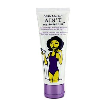 DERMAdoctor Ain't Misbehavin' Skin Clarifying & Mattifying Sunscreen SPF 30 PA+++ 120ml/4oz