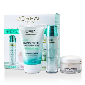 L'OrealHydrafresh Deep Hydration Programme: Mask 100ml  + Deep Boosting Essence 50ml + Dry Skin Moisturising Cream 50ml 3pcs