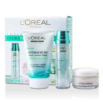 L'Oreal Hydrafresh Deep Hydration Programme: Mask 100ml + Deep Boosting Essence 50ml + Dry Skin Moisturising Cream 50ml 3pcs