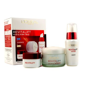 L'Oreal RevitaLift Fair & Firm Trio: Day Cream SPF18 50ml +  Essence 30ml + Eye Cream 15ml  3pcs