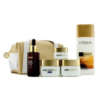 L'Oreal Age Perfect Age Gracefully Pouch: Cleansing Milk 200ml +  621162 5pcs+1bag