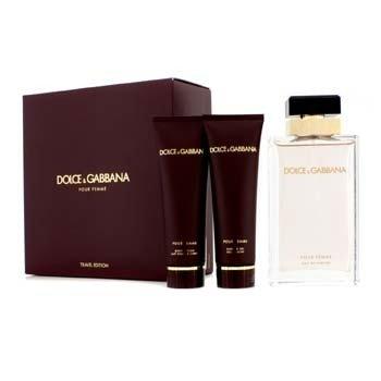 Dolce & GabbanaPour Femme Coffret (New Version): Eau De Parfum Spray 100ml/3.3oz + Body Lotion 50ml/1.6oz + Shower Gel 50ml/1.6oz 3pcs