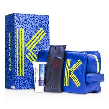 Image of Kenzo Homme Sport Coffret: Eau De Toilette Spray 100ml/3.4oz + After Shave Balm 50ml/1.7oz + Fashion Pouch 2pcs+1pouch