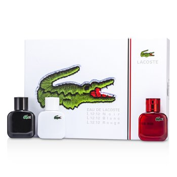 LacosteEau De Lacoste L.12.12 Coffret: Blanc Eau De Toilette Spray 30ml/1oz + Noir Eau De Toilette Spray 30ml/1oz + Rouge Eau De Toilette Spray 30ml/1oz 3x30ml/1oz